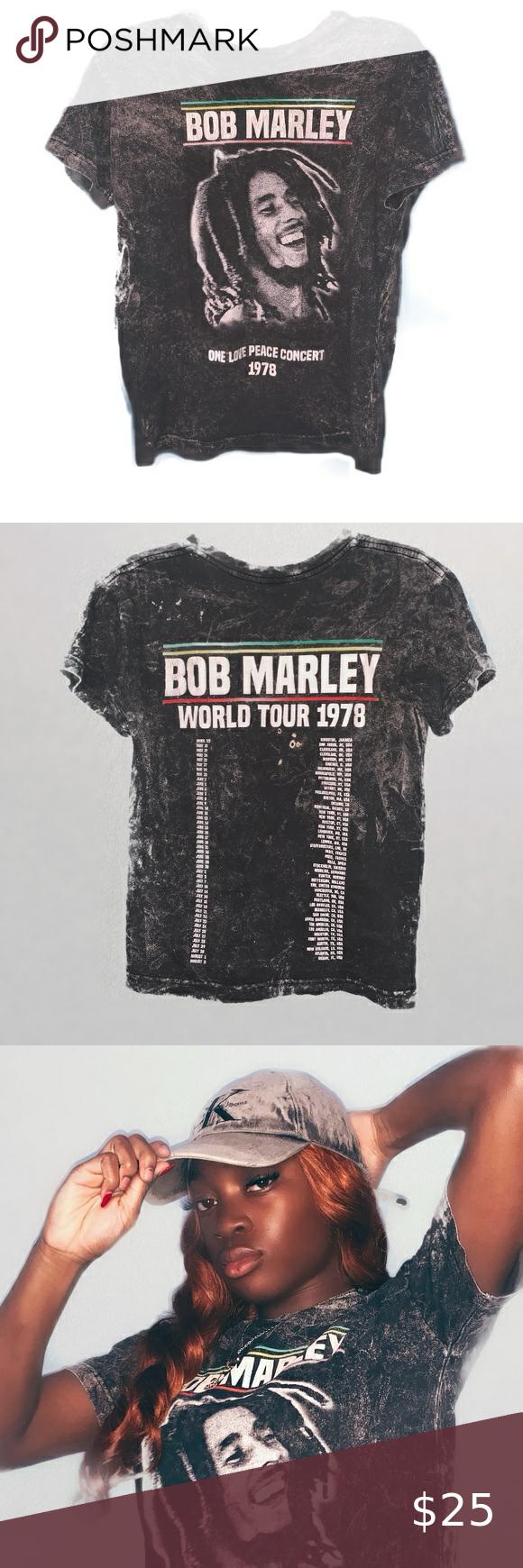 Bob Marley World Tour T Shirt In 2020 Tour T Shirts Bob Marley T Shirts Bob Marley