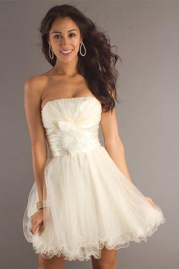 robe bal bustier courte orn e de fleurs en tulle robe de bal pinterest robe and prom. Black Bedroom Furniture Sets. Home Design Ideas