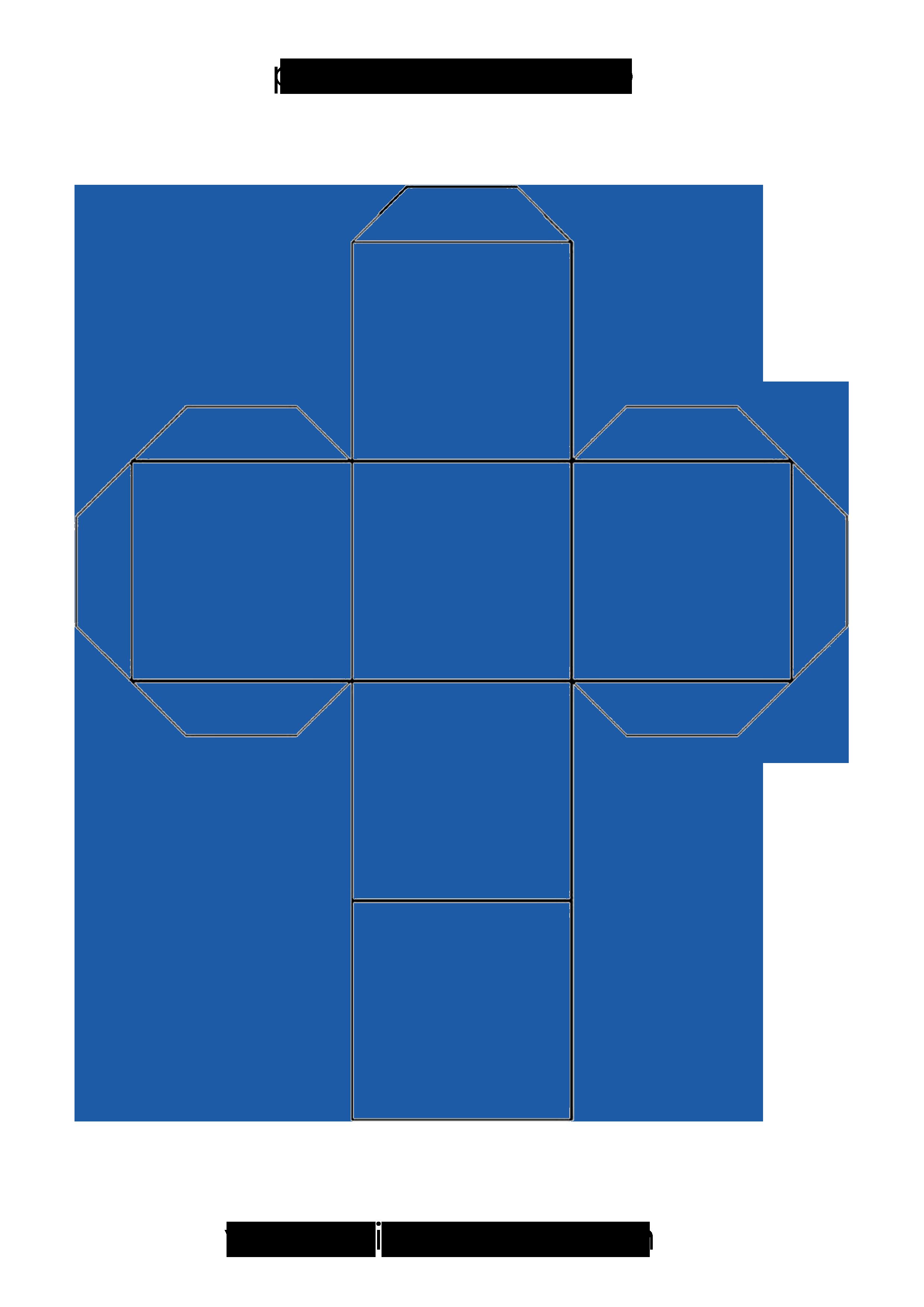 Plantilla Par Imprimir Y Crear Un Cubo En Papel O Cartulina Plantillas Cubo Templates Cube Molde De Cubo Cuerpos Geometricos Para Armar Como Hacer Un Cubo