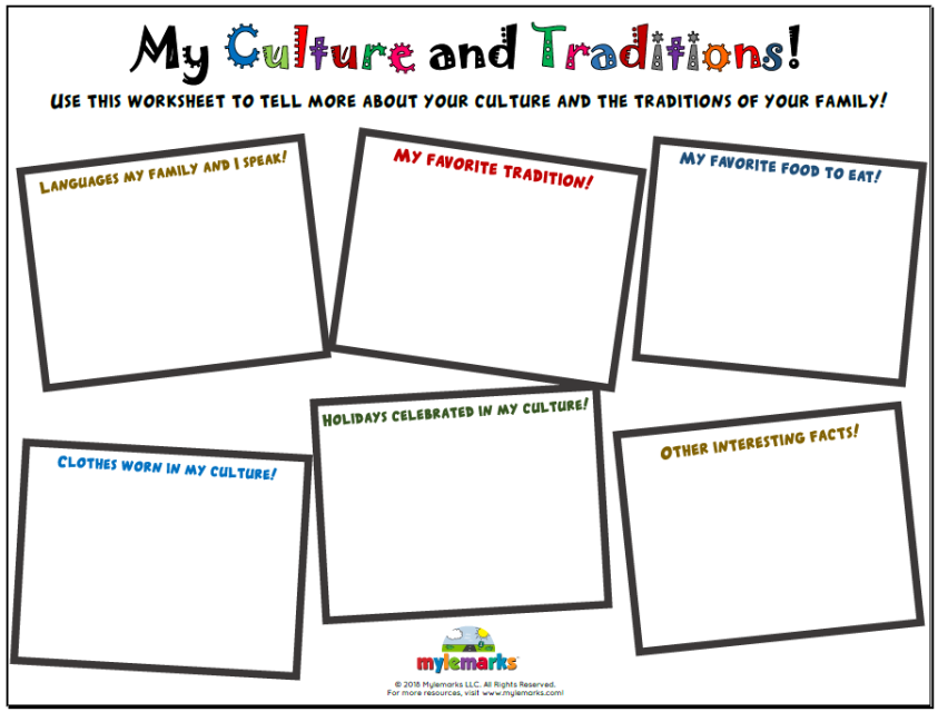 My Culture and Traditions | Diversity and Identity Resources