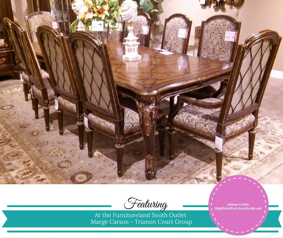 Marge Carson Trianon Court Group Dining Table 2 Arm Chairs