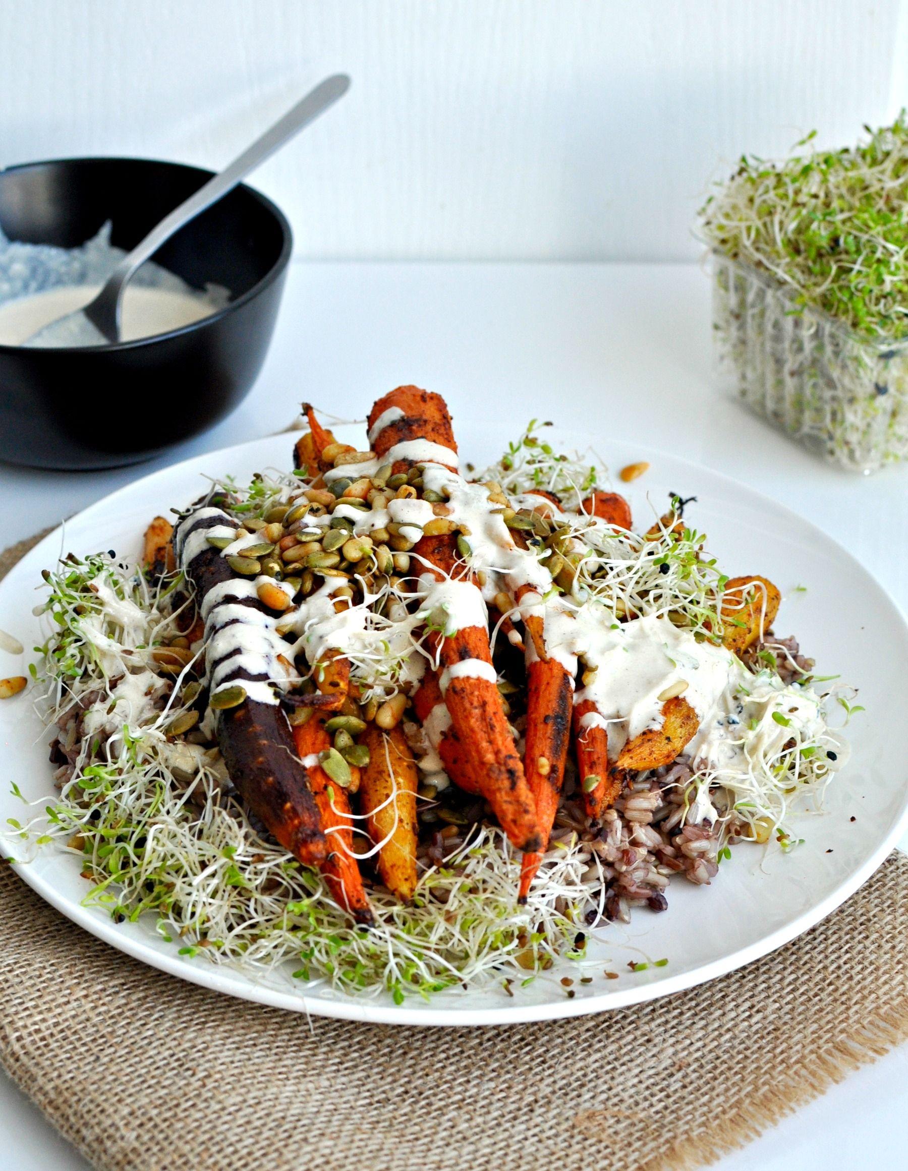 Roasted Spiced Carrots Recipe