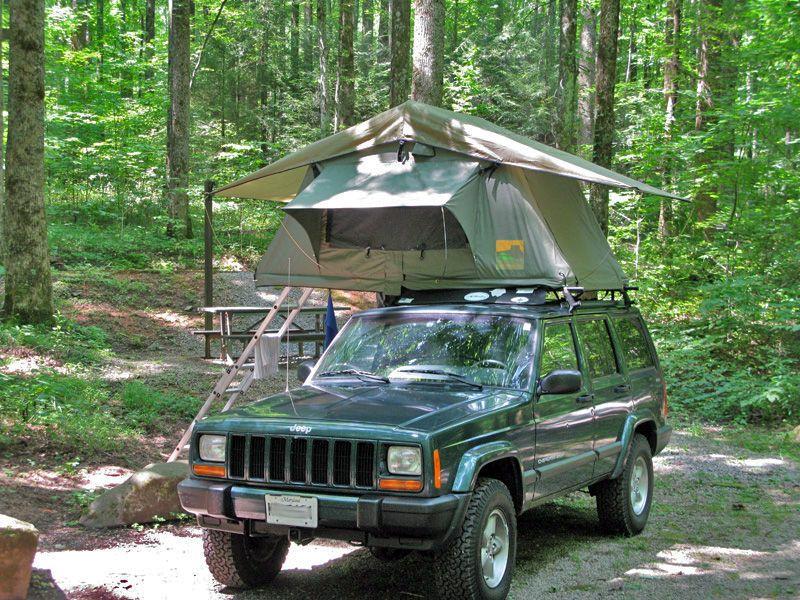 Roof Top Tent Camping Lab 55 X94 Jeep Xj Jeep Cherokee Jeep