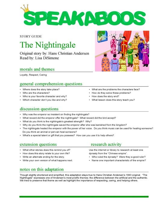 lesson plans the nightingale speakaboos worksheets education