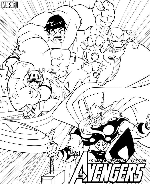 coloring page Avengers - Avengers | Activity Pages for the Munchkins ...