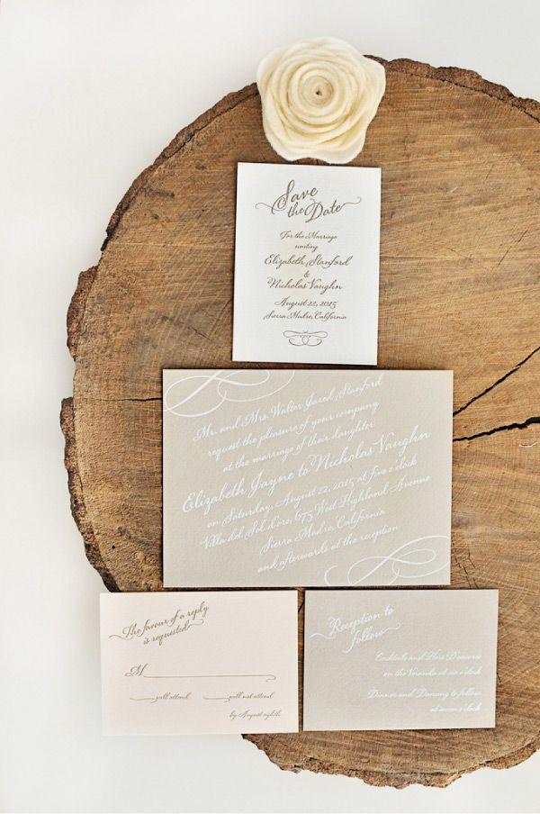 Wedding Invitations Style Me Pretty + William Arthur! Beige - formal invitation style