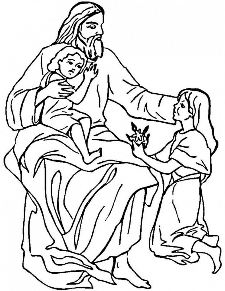 Free Printable Jesus Coloring Pages For Kids | JESUS | Pinterest ...