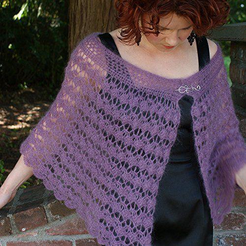 Sugarplum Capelet in elann.com Silken Kydd | Crochet & Knit | Pinterest