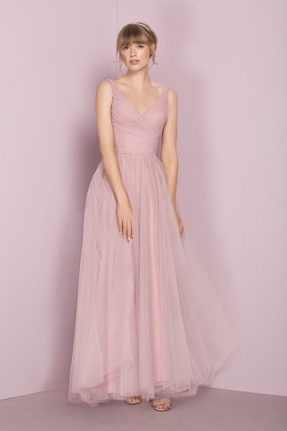 Pleated Floaty Tulle Bridesmaids Dress 12555F | Kelsey Rose | camila ...