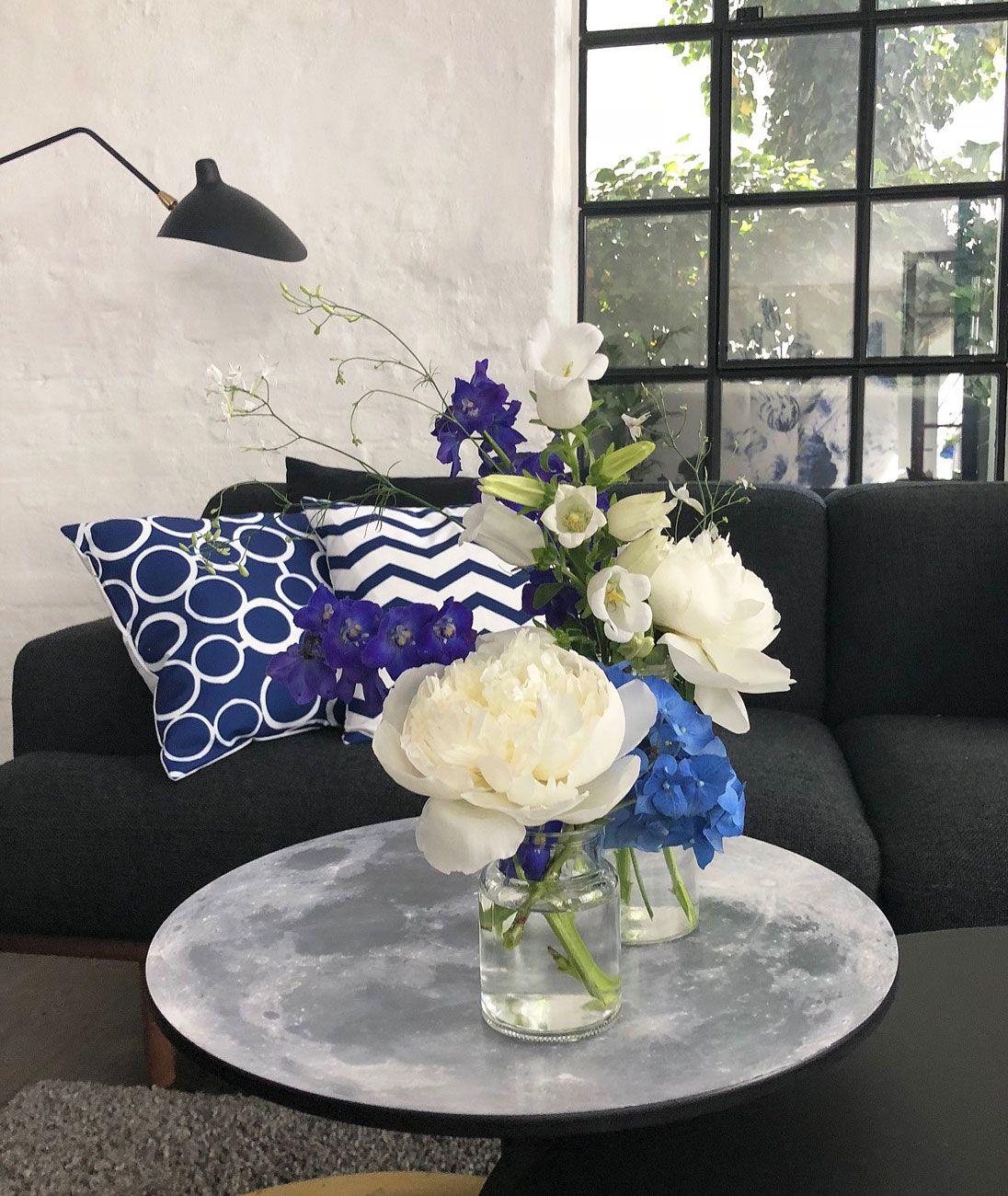 Blumendekoration passend zum Interieur, #homestaging und ...