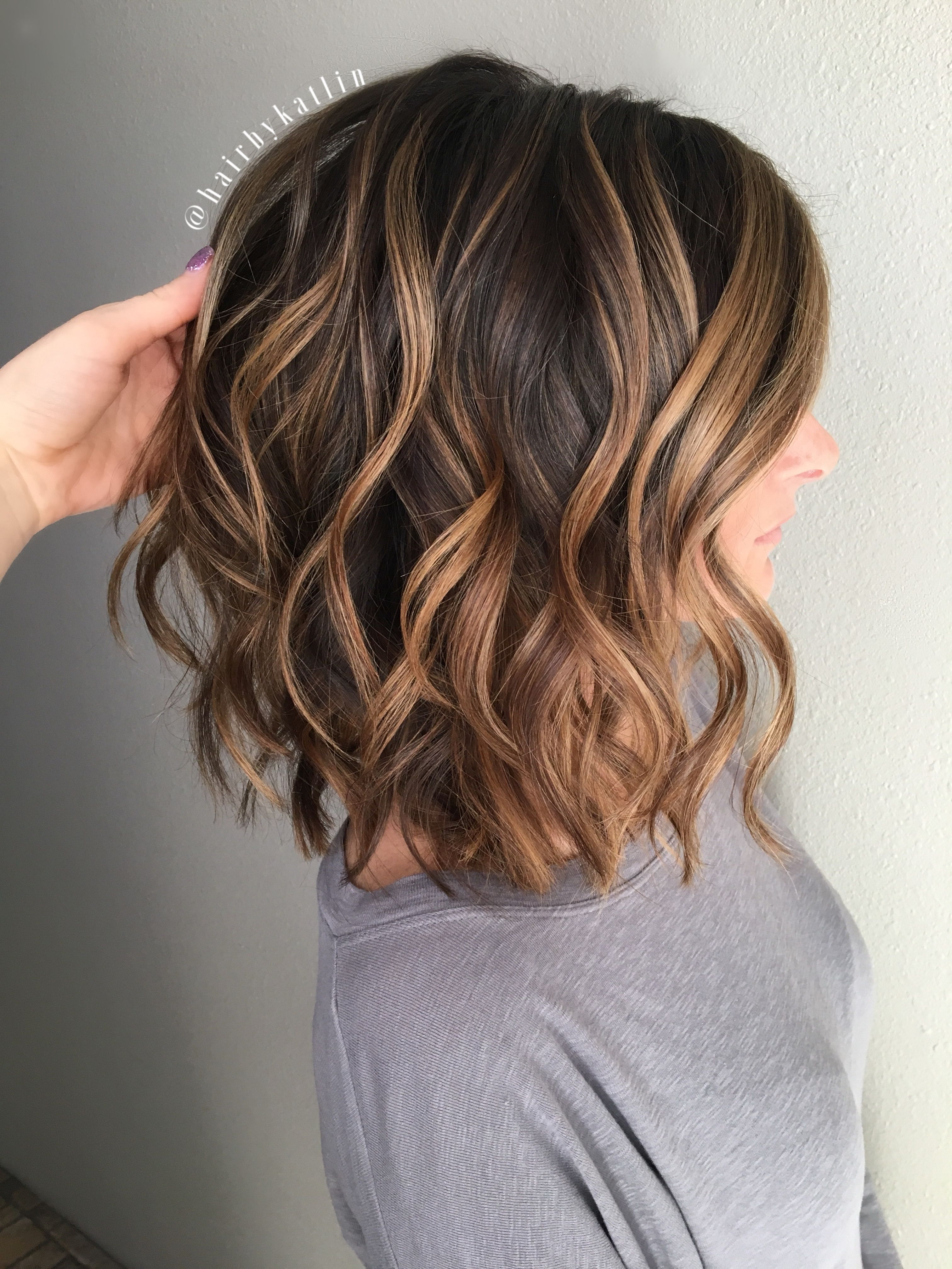 Balayage Brunette Caramel Highlights Honey Balayeombre Natural