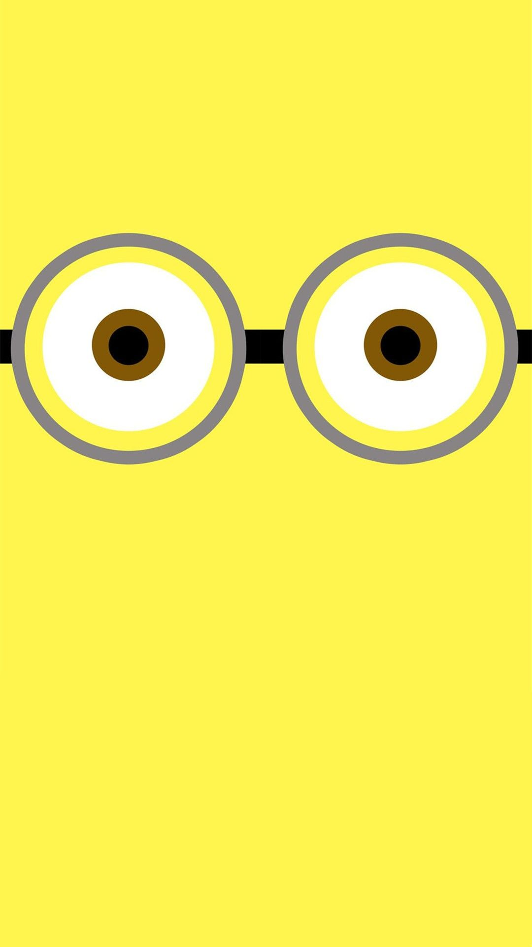 Cutest big eyes minion of despicable me iphone 6 plus wallpaper 2014 halloween iphone 6 plus wallpaper