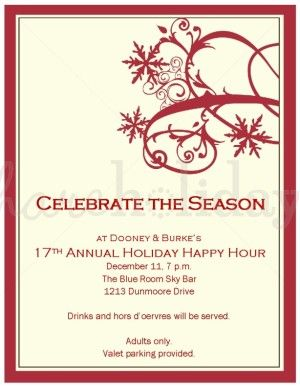 Corporate Christmas Party Invitations