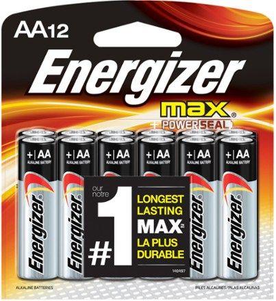 Energizer Alkaline Aa Batteries Package Of 12 Rei Co Op Energizer Energizer Battery Alkaline Battery
