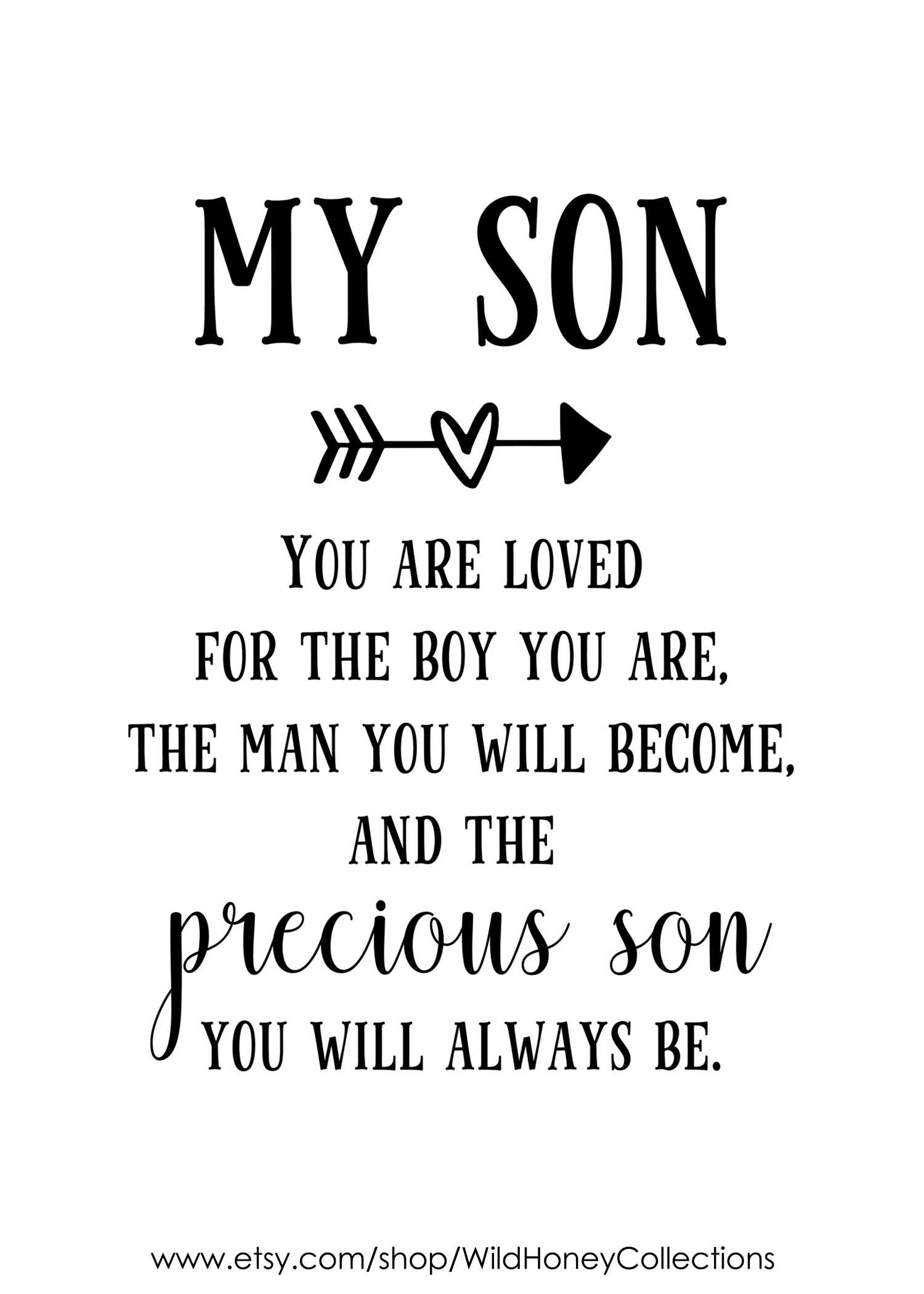 My Son Poem Printable Wall Decor Mother To Son Gift Father To Son Gift 5 Different Color Backgrounds Instant Download In 2021 My Son Quotes Son Poems Son Quotes