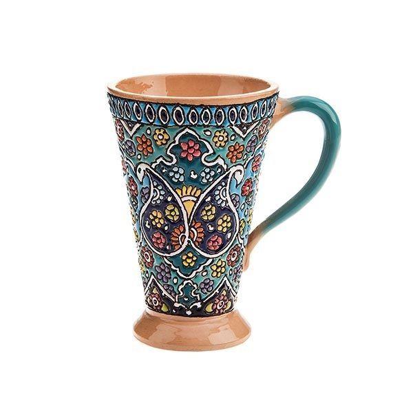 Persian Minakari Painted Handmade Stoneware Cup مینا کاری سفالی Handmade Asianoriental Stoneware Cups Stoneware Persian