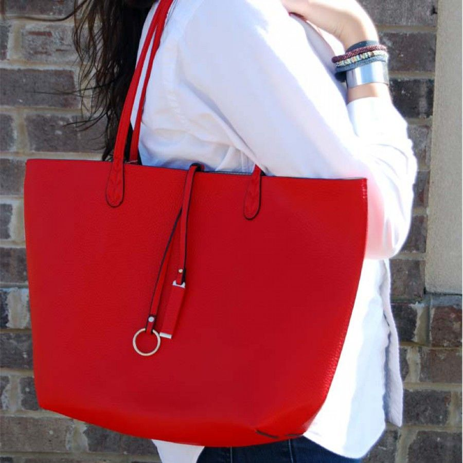 The Mary Bag - Love a RED bag!  So great for this year with all the nautical, too!
