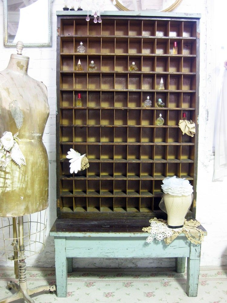 Antique Farm House One Of A Kind Post Office Mail Sorter