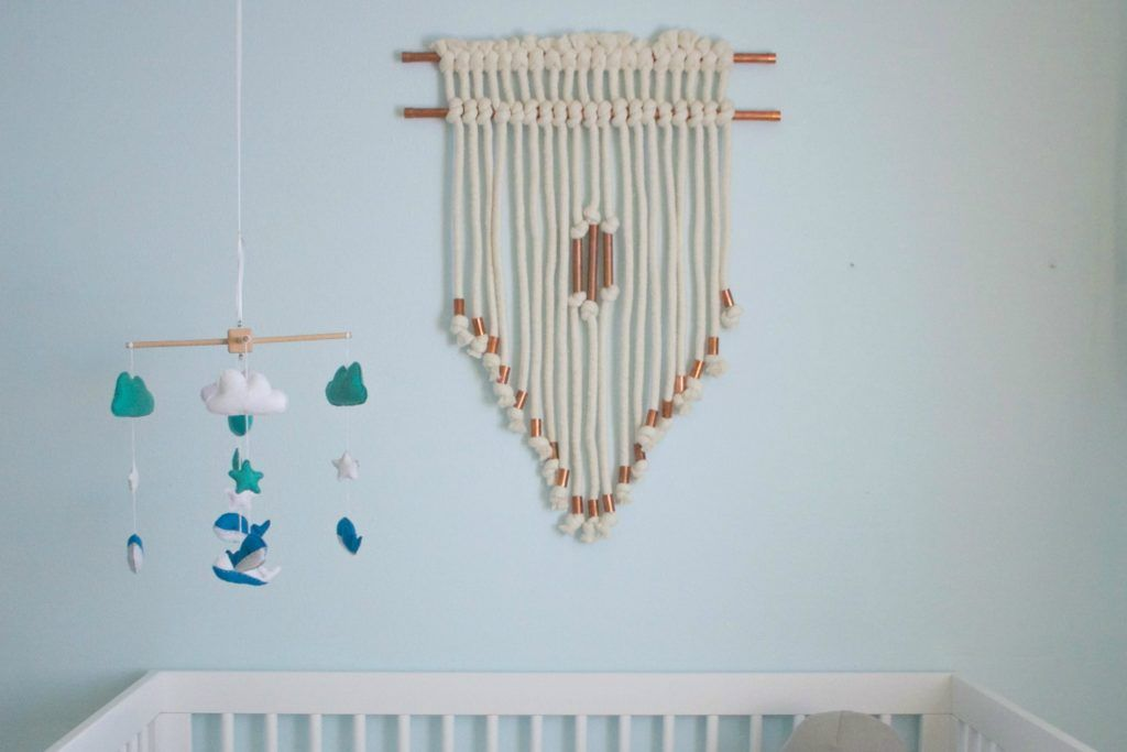 Diy Copper Pipe And Chunky Yarn Nursery Wall Hanging Project