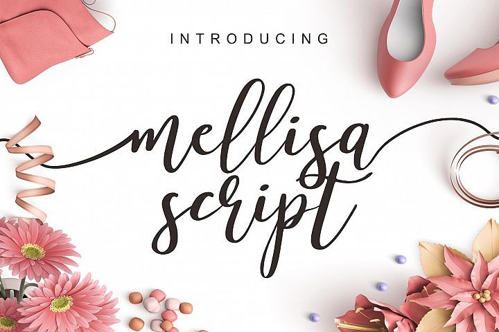 Mellisa Script And Extras Free Fonts Dafont Over 170000 Free Fonts