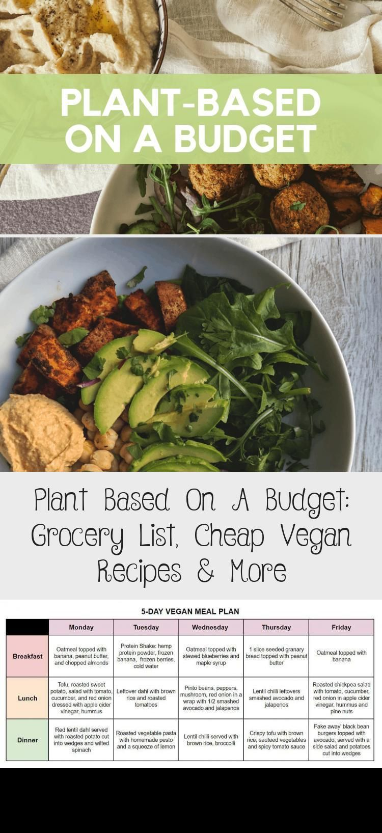 Plant Based On A Budget This Vegan Grocery List Meal Plan And Cheap Vegan Rec Budget Budget Meal Planning In 2020 Vegan Grocery List Cheap Vegan Vegan Grocery