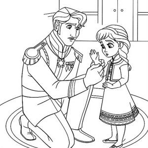 Frozen The King Arendelle Put Gloves To Young Elsa Coloring Page The King Arendell Elsa Coloring Pages Princess Coloring Pages Disney Princess Coloring Pages