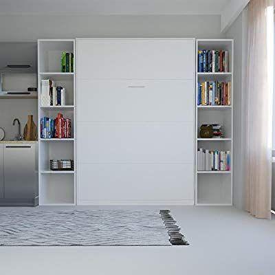 SMARTBett Schrankbett Basic 140x200 Vertikal Weiß mit