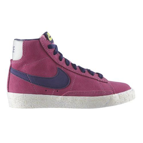 finest selection df6cf 91fa1 NIKE Blazer Mid Premium Suede Hi-Top Junior Girls Trainer ...