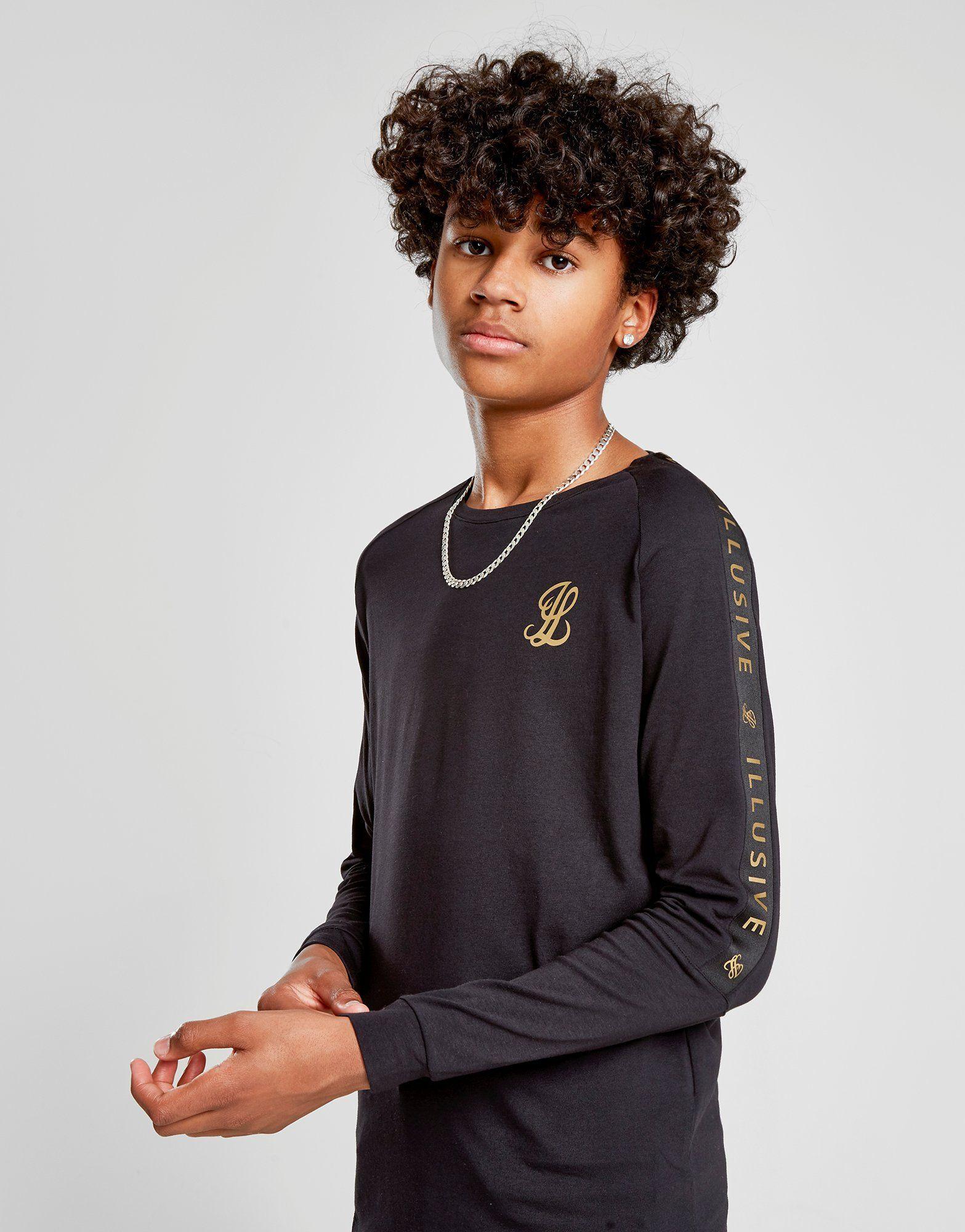 Shirt Tape T Abrigos À London Manches Junior Longues Illusive vcP16Uc
