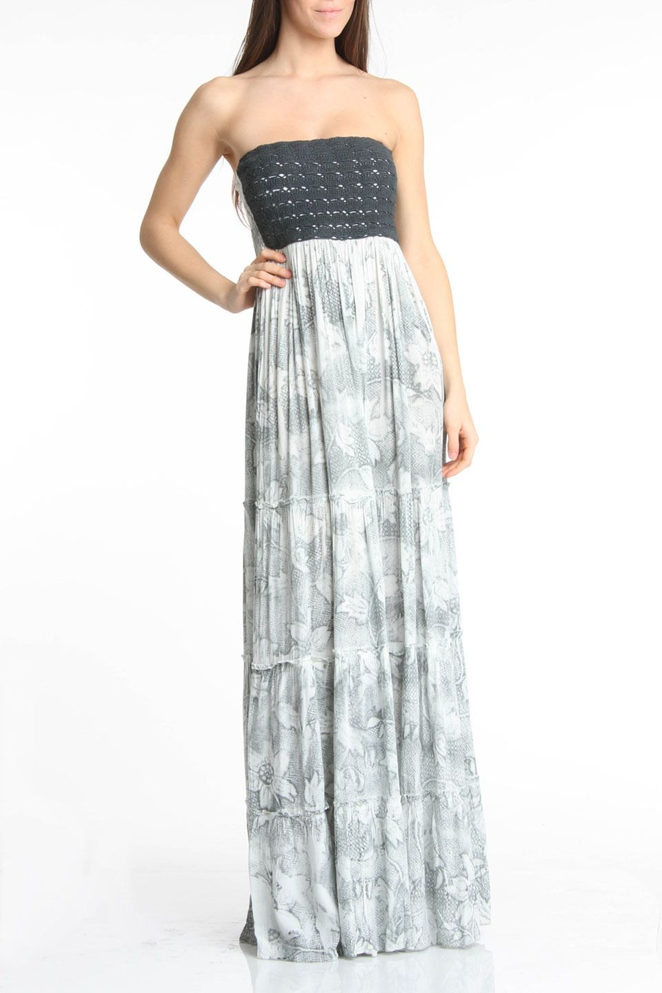 Chaudry Strapless Maxi Dress in Shadow - I love love love this dress!!  Musique De La ModeRobes ... 661c493343a8