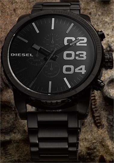 775913d6c609 Diesel DZ4207 XXL ALL-BLACK Oversize Chronograph