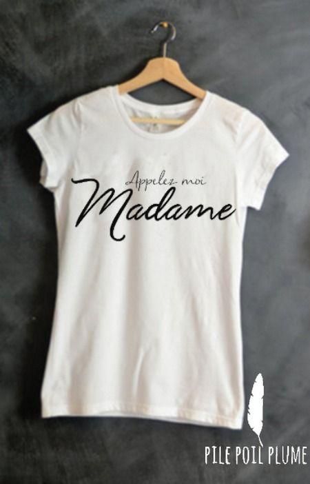 eb4d5766562 t -shirt ou débardeur appelez -moi madame ( mariage) cadeau evjf   T-Shirt