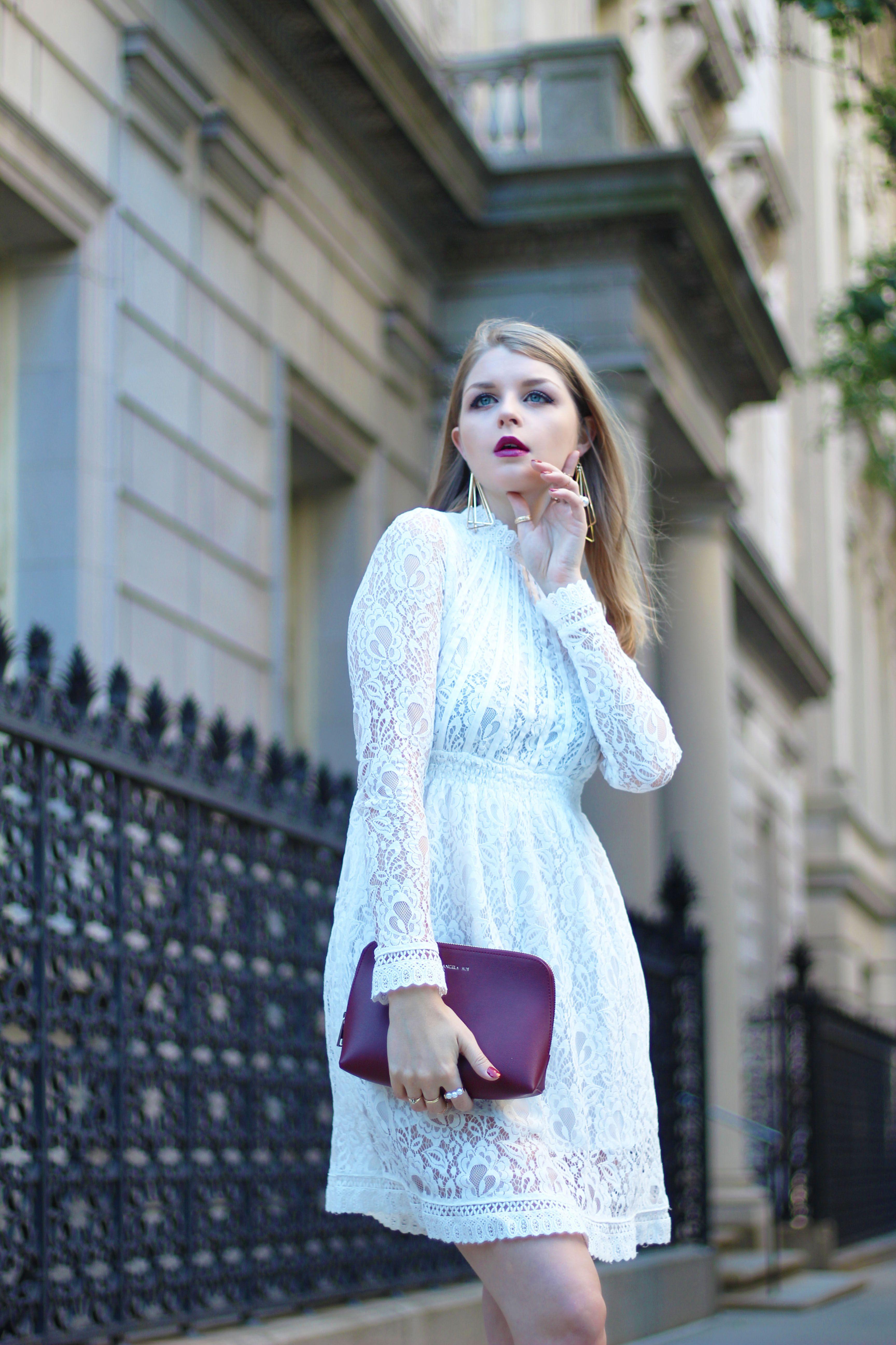 A little white dress definitely a must in every girls