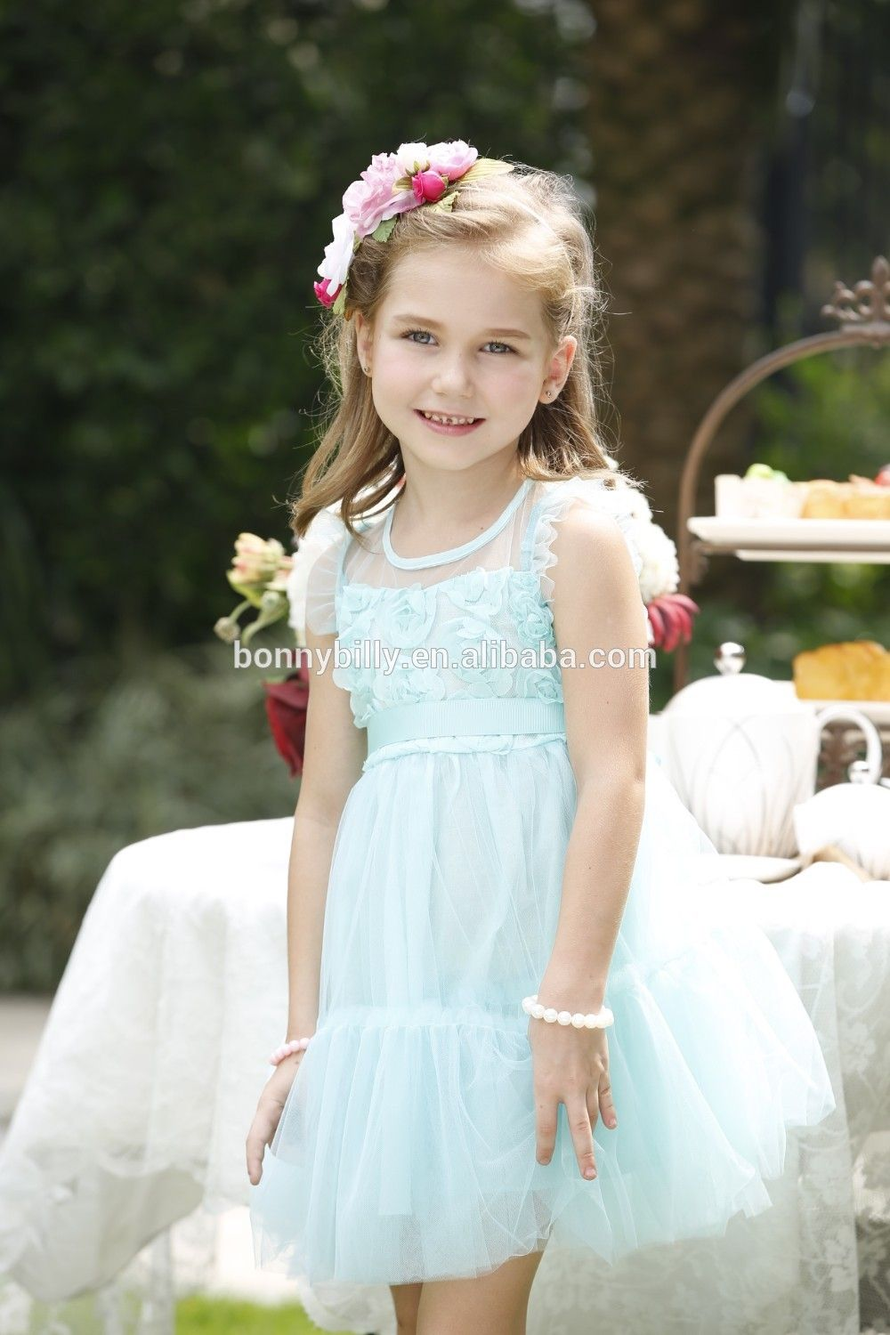 ca0948d35 Fancy Flower Net Dresses for Girl of 5 Years Old,Baby Frock Dress for Party
