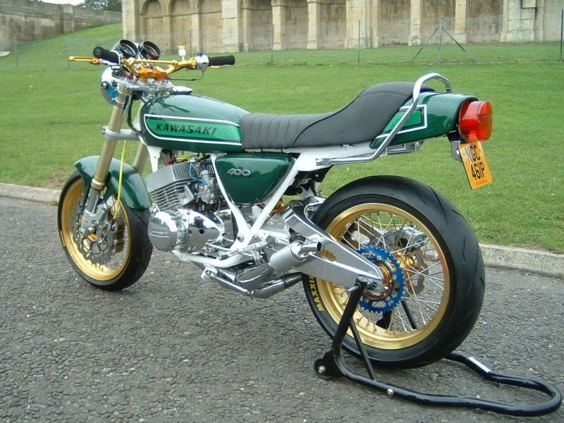 Trick Kawasaki KH400 Motorcycle.