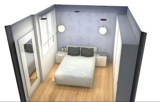 Habitacion pequena matrimonio 3 decorar tu casa es for Amueblar habitacion matrimonio