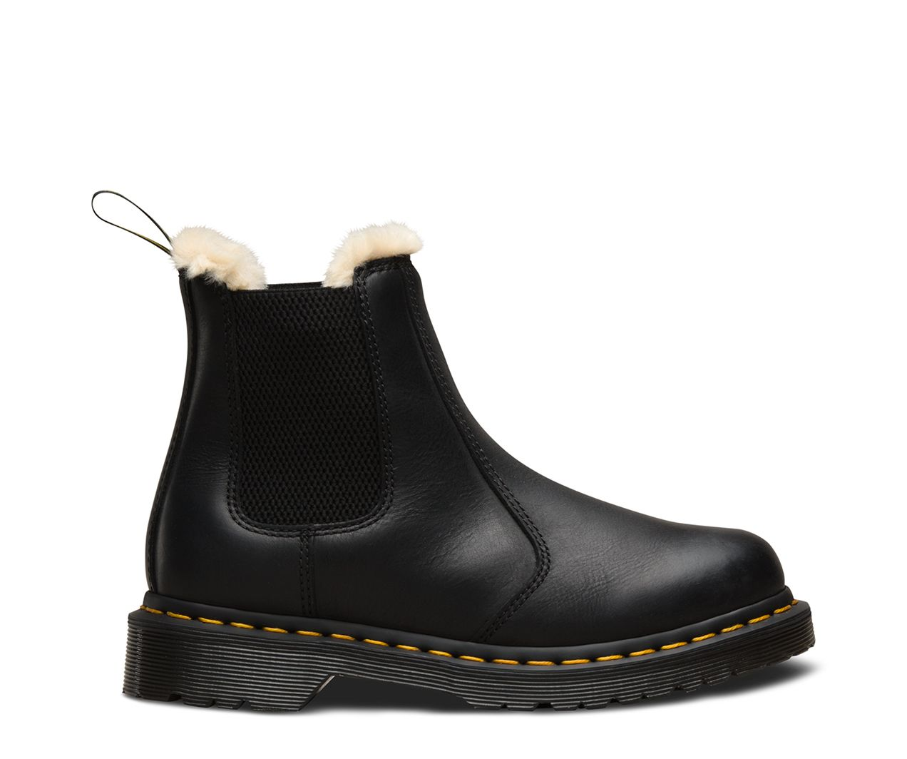 Dr martens fur lined 2976 leonore wyoming chelsea boots in