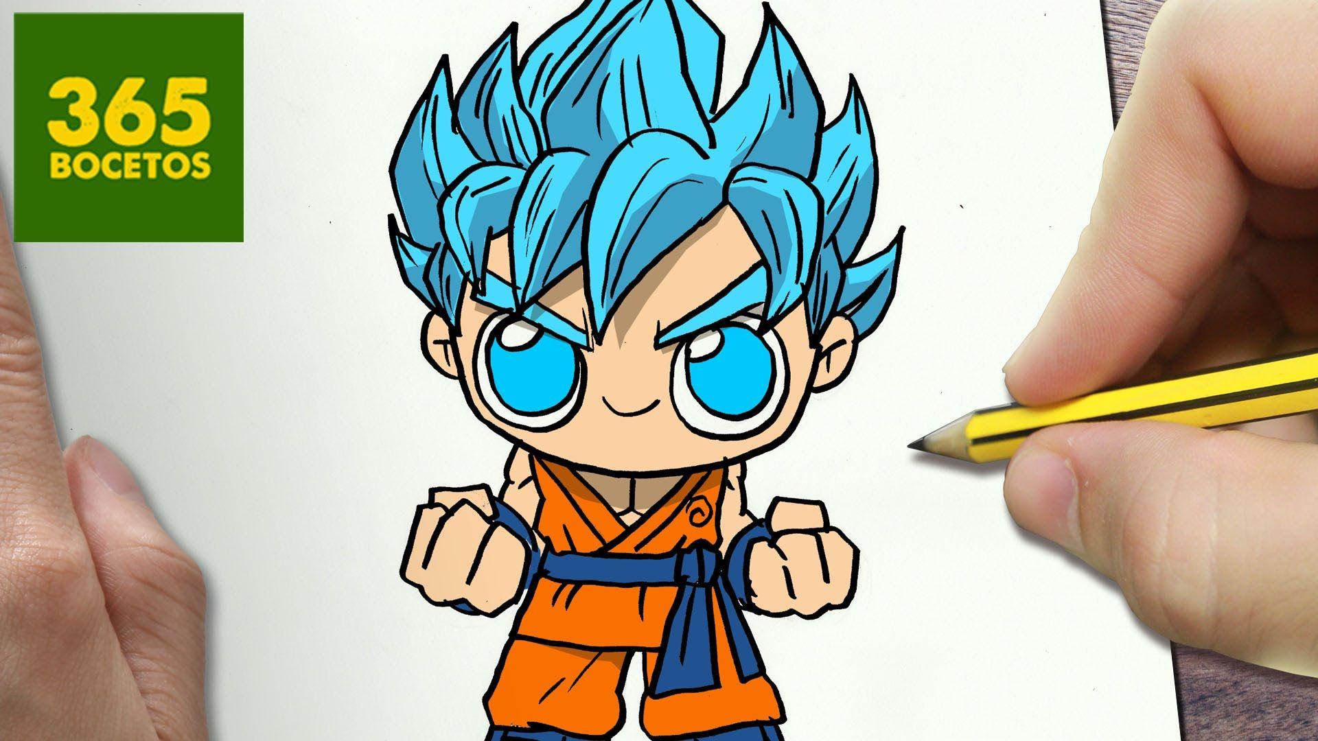 Como Dibujar Goku Ssj Dios Kawaii Paso A Paso Dibujos Kawaii Faciles Dibujos Kawaii Como Dibujar A Goku Dibujos Kawaii Faciles
