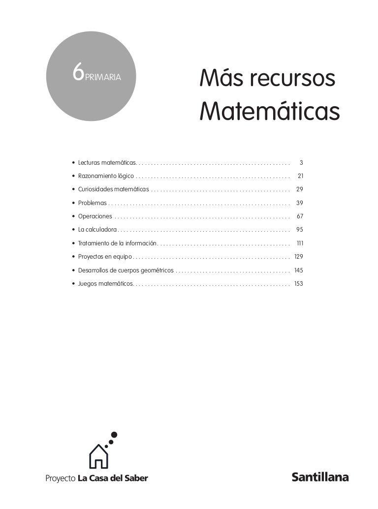 Mas Recursos Mates Santillana Libros De Matemáticas Recursos Matemáticos Matematicas