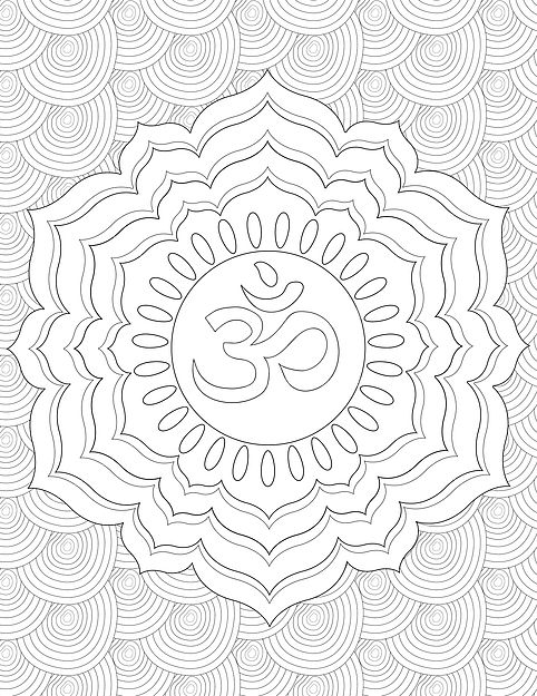 chakra mandala printable coloring pages - photo#31
