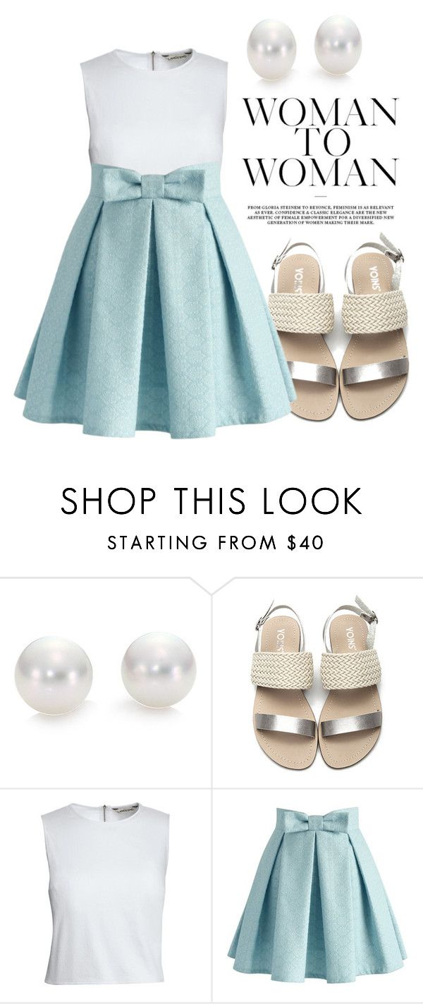 """Untitled #143"" by oanamaria660 ❤ liked on Polyvore featuring Mikimoto, Canvas by Lands' End and Chicwish"