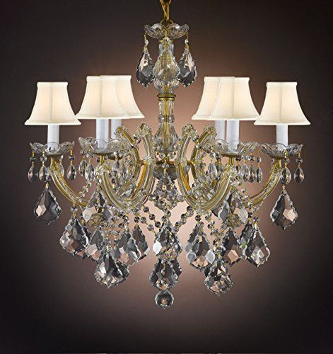 Maria Theresa Crystal Chandelier Empress Crystal Tm With White – Crystal Chandelier with Shades