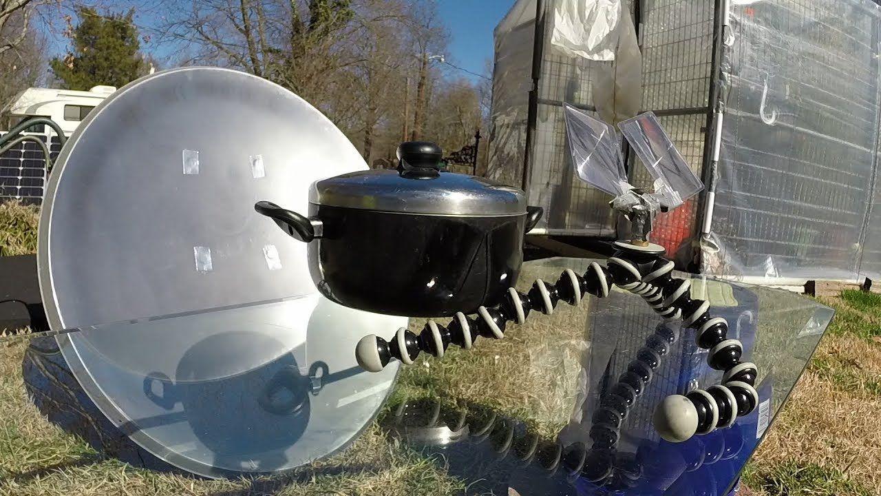 Parabolic satellite dish conversion solar cooker