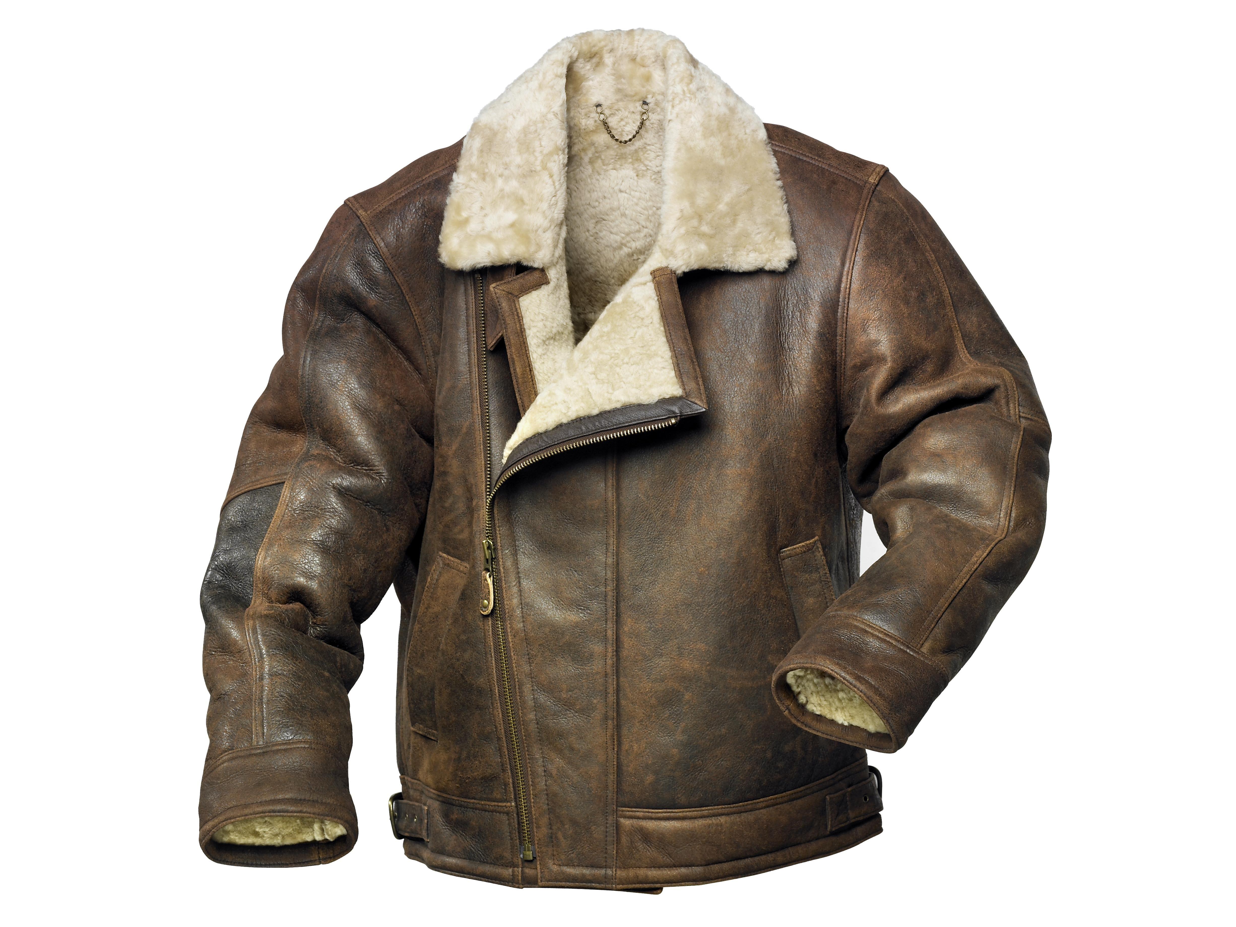 Men's Sheepskin Aviator Style Flying Jacket Radford