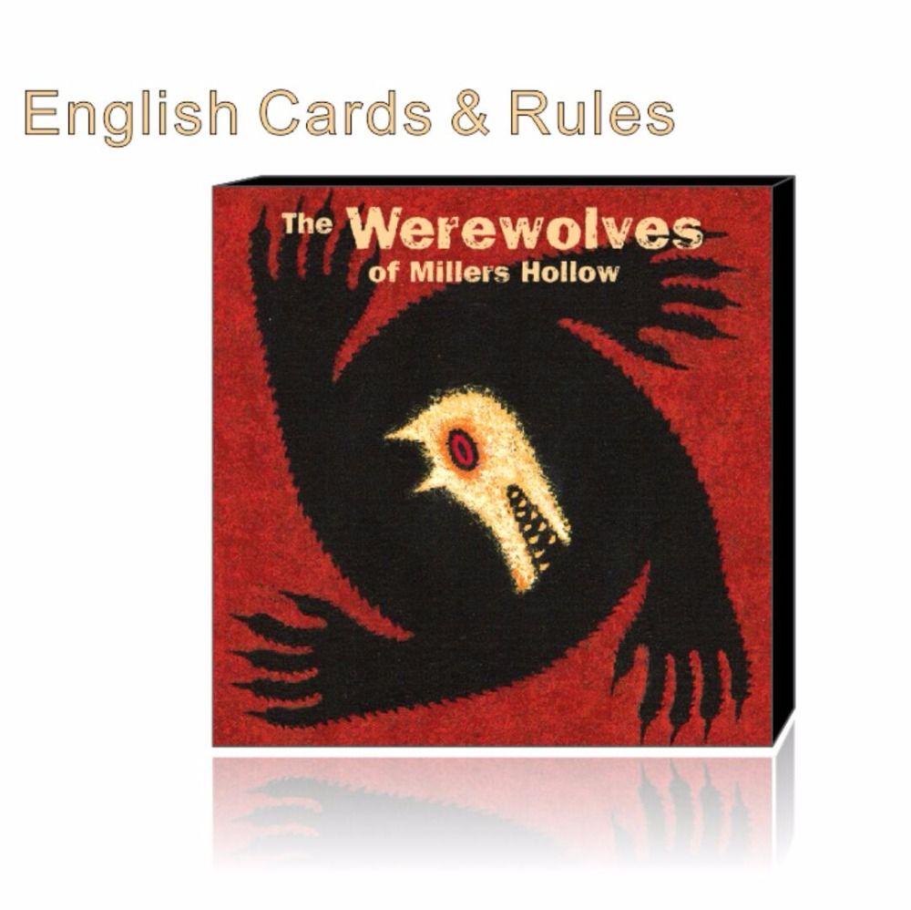 늑대 영어 규칙 Millers 중공 가족 게임 보드 게임 카드 게임