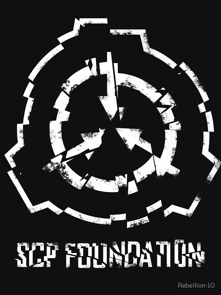 SCP Foundation Symbol- cracked' T-Shirt by Rebellion-10