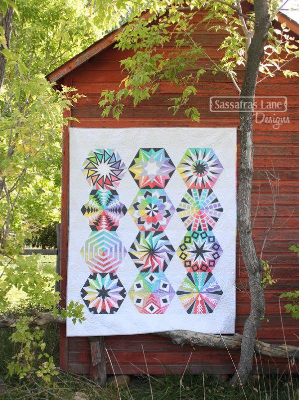 Arcadia Avenue Pattern Book | Hexagon quilting, Patterns and ... : arcadia quilt pattern - Adamdwight.com