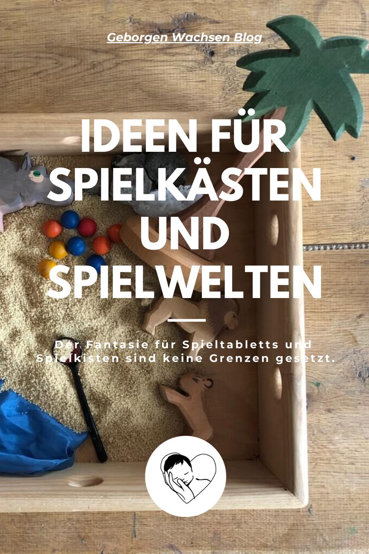 Spielkästen und Spielwelten für Kinder anbieten