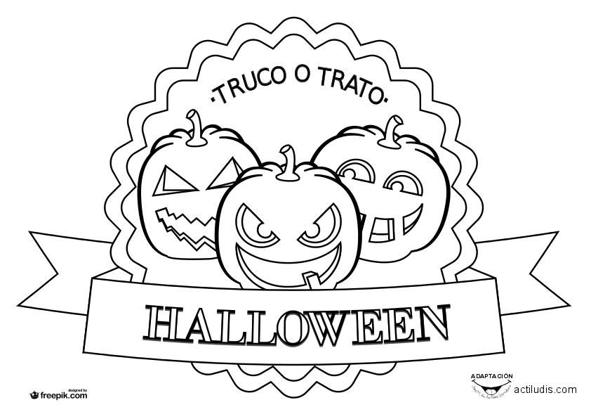 Arañas De Halloween Para Colorear: Dibujos Para Colorear Halloween