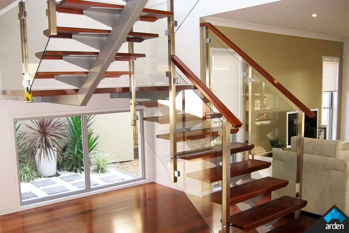 Best Residential Scissor Stairs See Wood Railing At Http 400 x 300
